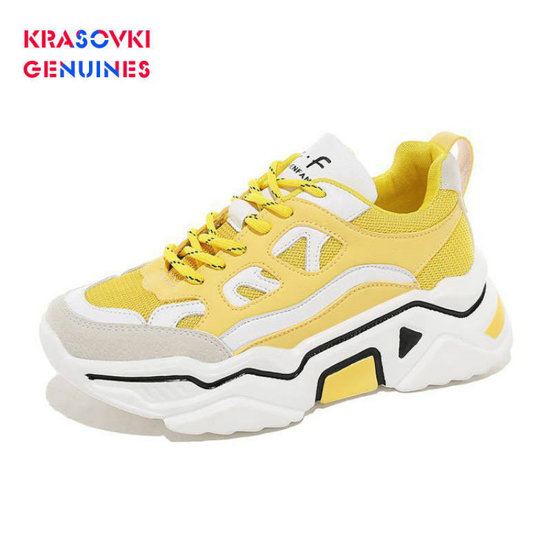 Krasovki Genuines Sneakers Women Autumn Dropshipping Fashion Breathable Cross Tied Striped Solid Low Heel Causal Women Shoes in Women 39 s Vulcanize Shoes from Shoes