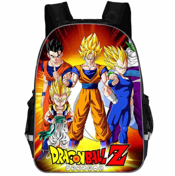 11/13/16/18 Inch Dragon Ball School Backpack Cartoon School Bags For Boy,Girls Kindergarten Primary Bag Baby Bags