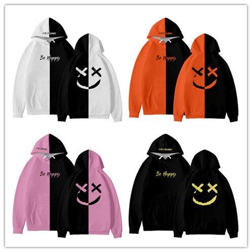 Smiley Be Happy Print Hoodie Man Women Kids Be Happy Sweatshirt Smiley Fashion Boy Girl Streetwear Tops Hip Hop Pocket Pullover