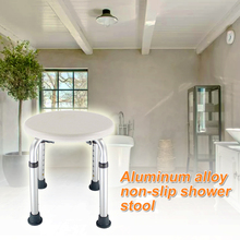 Asiento para personas mayores para embarazadas, taburete de ducha antideslizante, silla de inodoro para niños, muebles con altura ajustable, redondo y fácil de limpiar