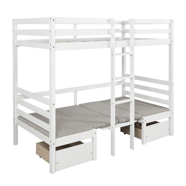 Twin Over Twin Kids Bedroom Furniture Set  3