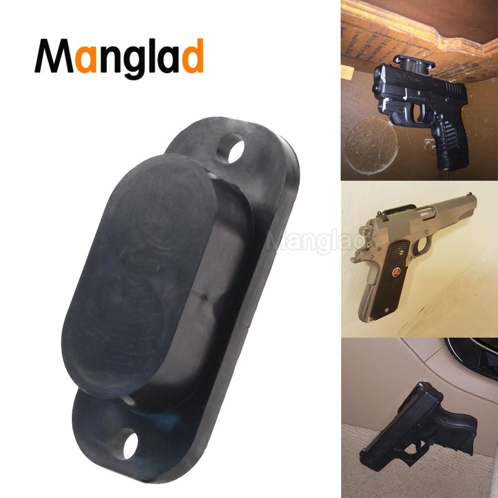 Concealed Magnetic Gun Holder Holster Gun Magnet 25LB Rating For Car Under Table Bedside Free Shipping Safe Bag