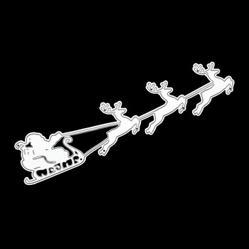 Christmas Santa Reindeer Sled Sleigh Metal Cutting Die Set Punch Cutter Knife For Clear Stamp Scrapbooking Card Make DIY image