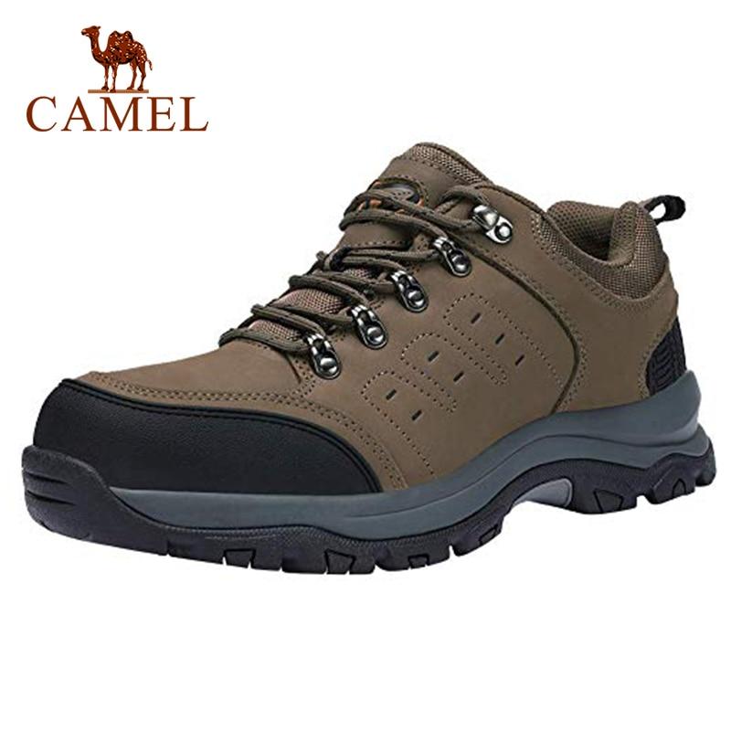 CAMEL Men Hiking Shoes Leather Upper Spring Durable Anti-Slip Waterproof Outdoor Mountain Climbing Trekking Shoes Eur 40.5-46