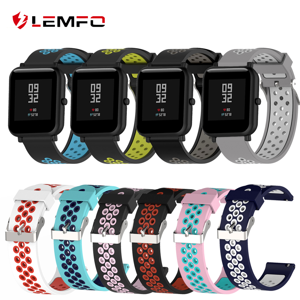 LEMFO Bracelet Watchband-Strap-Accessories Smart-Watch Xiaomi Silicone for Youth 20MM