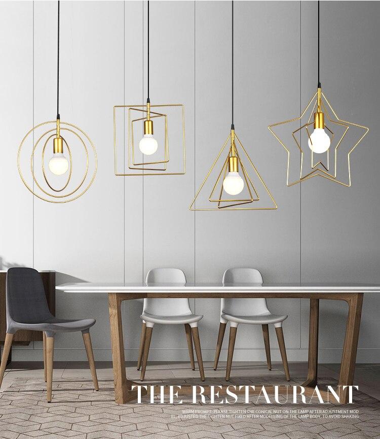 Simple Modern Style Led Lamps Home Creative Lighting Bedroom Decoration Loft Light Iron Chandelier E27 Bulb Fashion Chandeliers