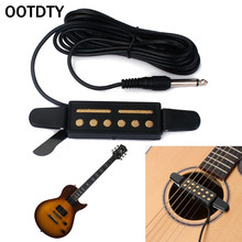 цена на OOTDTY 12 Hole Sound Pickup Microphone Amplifier Speaker for Acoustic Guitar Instrument suit for guitar