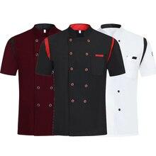 Chef-Uniform Work-Jacket Barber Summer Cooking-Shirt Short-Sleeve Hotel Kitchen Restaurant