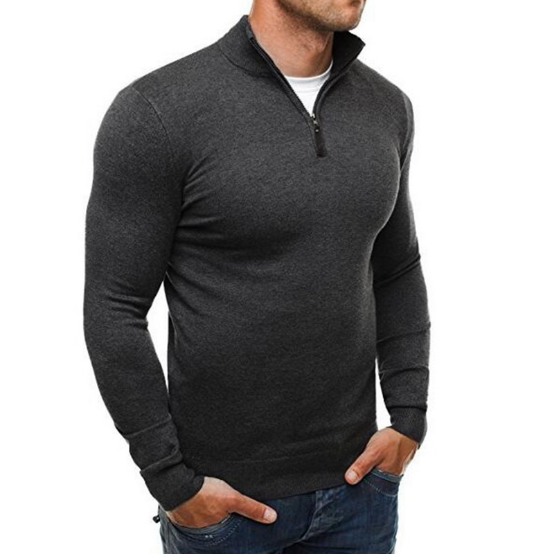 2019 New Autumn Winter Fashion Men Sweaters Casual Sweater Turtleneck Slim Fit Knitting Sweater Knitted Pullover Brand