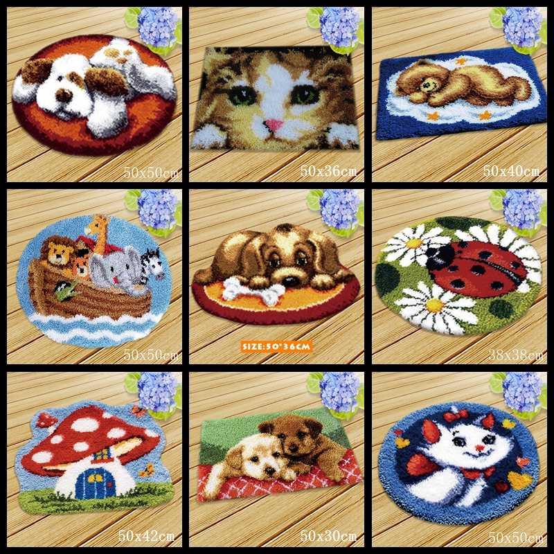 Tapis à crochet de loquet, accessoires pour chiens de chat, couture, point de croix, animaux, broderie