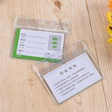 Id-Card-Holder Accessories Hospital-Supplies Transparent Office Vinyl for 3pcs/Lot Work-Staff