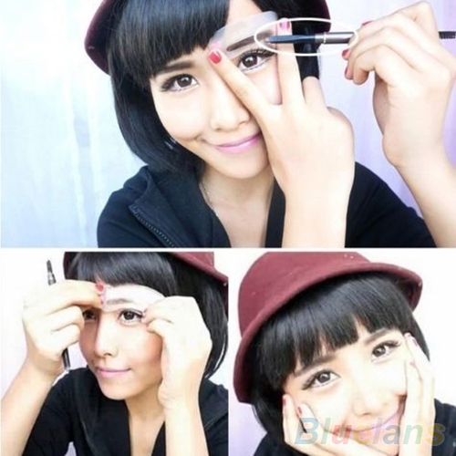 3 Pcs/1 Set Durable Eyebrow Artifact Aid Card Eyebrows Mold Assistant Template Thrush Card Threading Word Eyebrow Makeup Tools 1