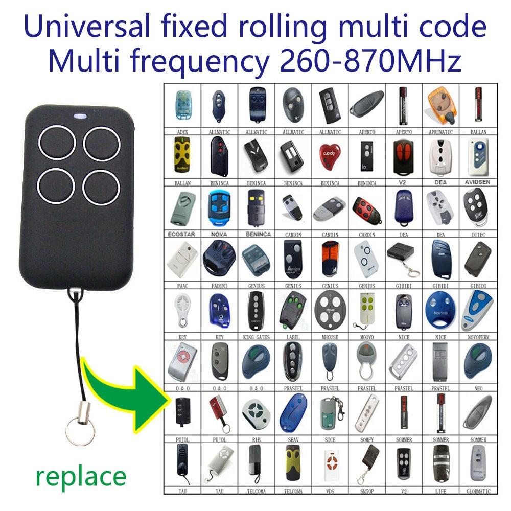Copy Gate Garage Door Remote Control 315 330 433 868 Mhz Duplicator Fixed Rolling Multi Code Remote Control