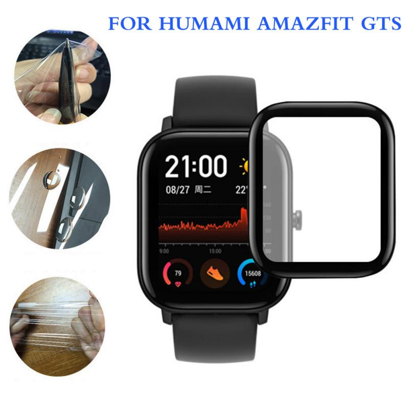 For Xiaomi Huami Amazfit GTS Screen Protector 3D Curved Edge Full Coverage Soft Clear Protective Film Smart Accessories TSLM1
