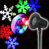Natal floco de neve laser projetor ano novo decoração