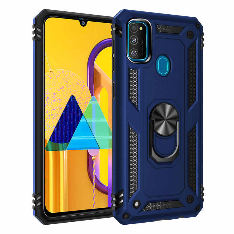 Per Samsung Galaxy M30s M30 Anello di Metallo Cassa Del Telefono Duro per Samsung Galaxy A90 5G A50s A50 A30s A30 armatura di Caso Della Copertura Posteriore Capa