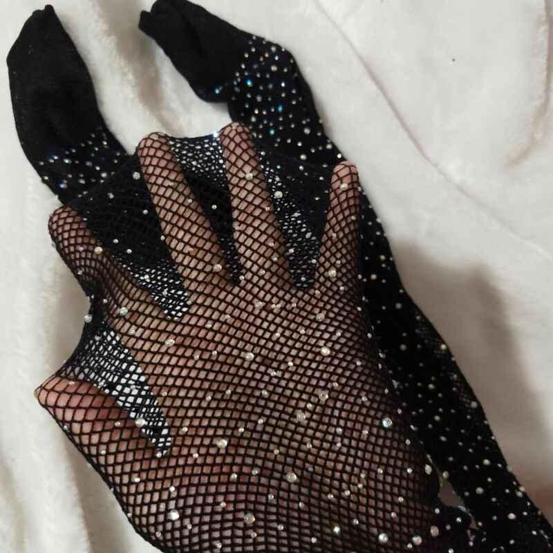 Medias de malla con diamantes de imitación para niñas, medias de red para niños, medias de red 2019