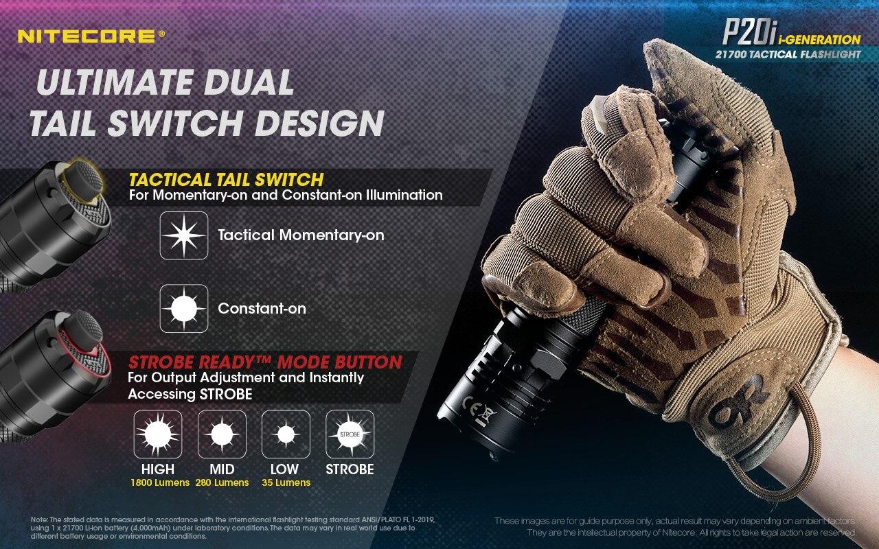 super brilhante 1800lumens com 4000mah bateria auto-defesa flashligh