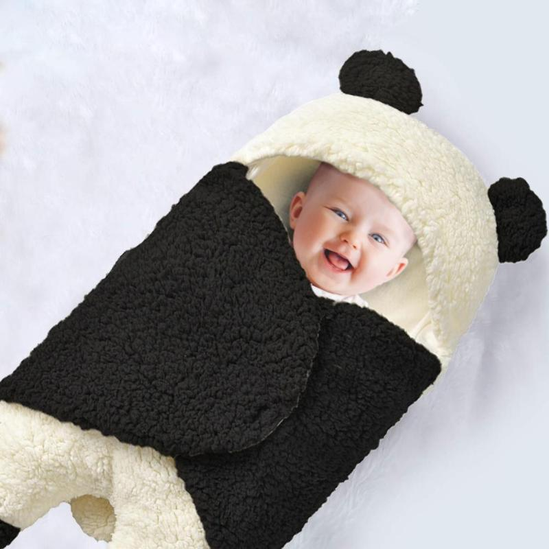 Baby Sleeping Bags Wrinkle Resistance Lightness Ventilation Newborn Infant Winter Stroller Swaddle Wrap Wool Lamb Blanket