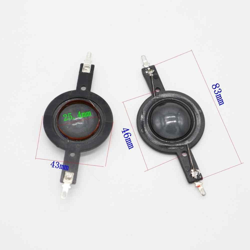 1 cal 25.4mm 25.5mm Tweeters cewka drgająca czarny jedwab tytanu żywica membrana Treble głośnik akcesoria do naprawy 8ohm 4 ohm DIY