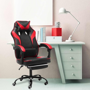 Computer Office Executive Chair Ergonomic Leather Reclining Furniture Lift Gaming Armchair with Footrest