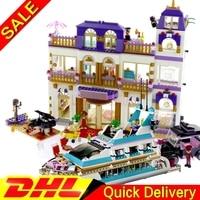 New LP 01045 + LP 01044 Girls Kits The Heartlake Grand Hotel Set 41101 Building Blocks Bricks lepining Toys Gift For Kids