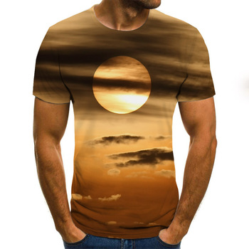 2020 New Summer 3D printed men's T-shirt casual   2