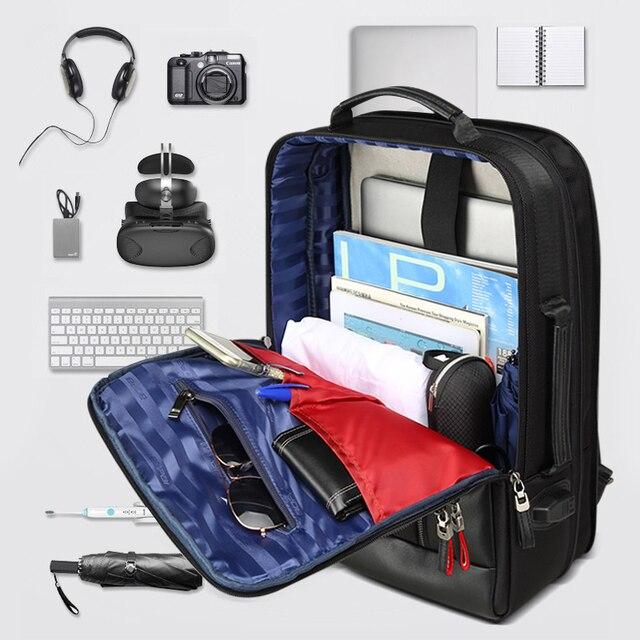 BOPAI z zabezpieczeniem przeciw kradzieży powiększ plecak USB zewnętrzny ładunek 15.6 Cal plecak na laptopa mężczyźni nieprzemakalny plecak szkolny torby dla nastolatków