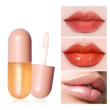 Nawilżający połysk Plumping błyszczyk Lip Plumper makijaż brokat odżywczy szminka w płynie olej mineralny jasny błyszczyk