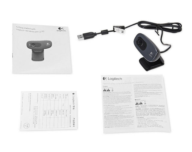 Original Logitech C270 HD Vid 720P Webcam Built-in Micphone USB2.0 Mini Computer Camera for PC Laptop Web Cam 6