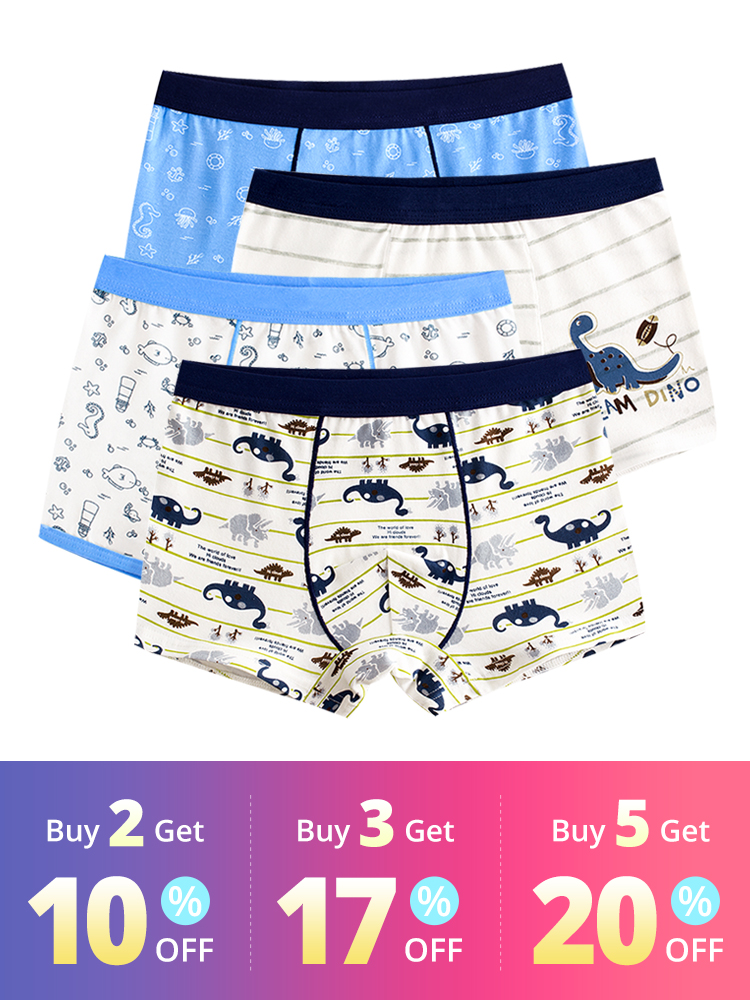 Boys Underwear Panties Boxers Children's Shorts Baby-Boy Stripes Kids Teenager Cartoon