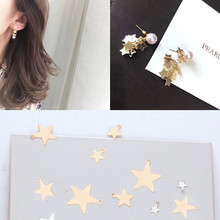 50pcs diy accessories copper temperament simple size five-pointed star earrings pendant bracelet material pendant pendant