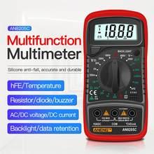 An8205c multímetro digital ac/dc amperímetro volt ohm tester medidor multimetro com termopar lcd backlight portátil