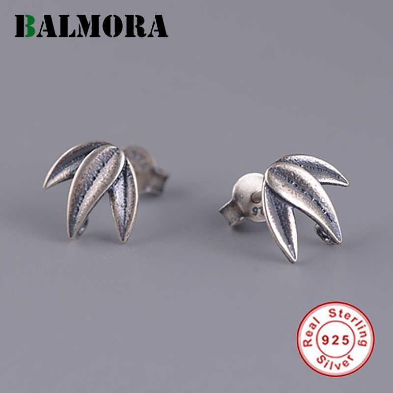 أقراط من الفضة الخيرزان عيار 925 من BALMORA للسيدات والبنات هدية أقراط أصلية من مجوهرات Brincos