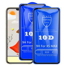 2PC/lot 10D protective glass for iPhone 11 11R max screen protector 7 6 X XR XS MAX protection
