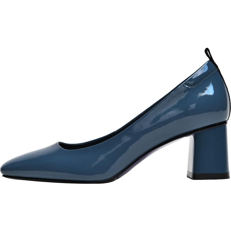 Doris Fanny talons carrés femmes chaussures en cuir véritable de haute qualité femmes talons courts chaussures de bureau