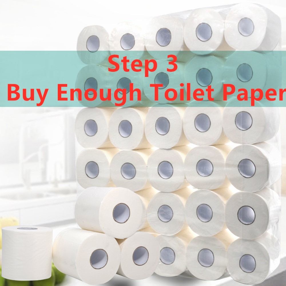 10 Pcs 4ply Replacement Cleaning Toilet White Toilet Tissue Clean Roll Paper Hollow Tissue Soft Toilet Paper Prevent Flu