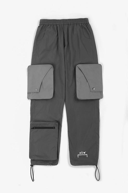 ACW a-cold-Wall meilleure qualité 1:1 grandes poches Logo imprimé femmes hommes pantalons de survêtement pantalons de survêtement Hiphop hommes pantalons de haute rue