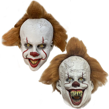 2019 New Joker Pennywise Mask Stephen King It Chapter Two 2 Horror Clown Cosplay Latex Masks with Wig Halloween Party Props
