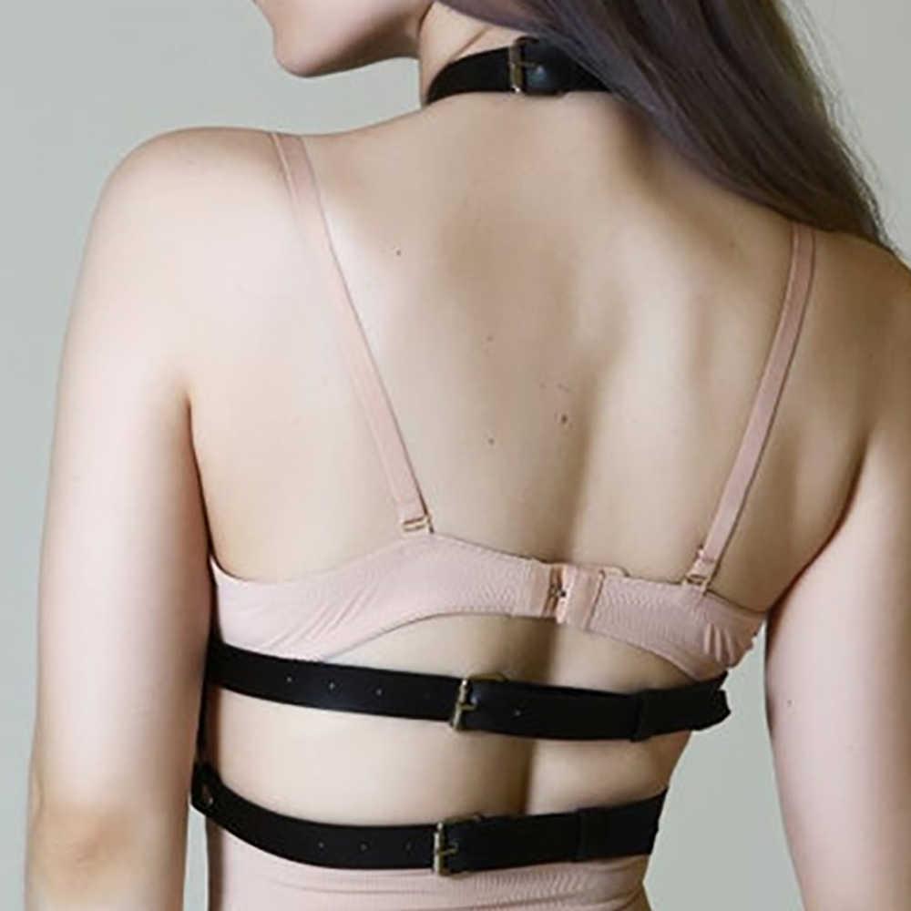 Gợi Cảm Dây Nịt Da Áo Ngực Dây Bdsm Goth Quần Lót Điều Chỉnh Nữ Áo Ngực Dây Garters Tôn Sùng Cơ Thể Mối Ràng Buộc Dây Thắt Lưng Dây