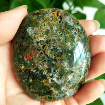 Natuursteen Marine Jasper Palm Healing Crystals Decoratieve Collectie Stenen En Kristallen