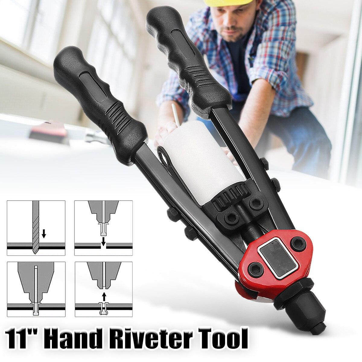 11 Inch 4 In 1 Riveter Guns Hand Riveting Kit Nuts Nail Guns Hand Riveter Tool Household Repair Tools Power Tool