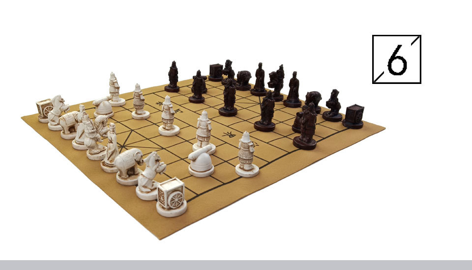 2 Yernea New Quality Traditional Chinese Chess Game Set Resin Chess Pieces Soft Chessboard Archaize Retro Chess Board Games (7)