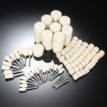 129 pçs acessórios dremel polimento roda ferramentas de polimento feltro lã metal superfície polimento roda para ferramenta rotativa