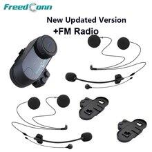 Free Shipping!!Original FreedConn Brand BT Interphone Bluetooth Motorcycle Helmet Intercom with FM Radio+Extra Earpiece+Bracket