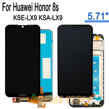 For Honor 8s KSE LX9 KSA LX9 Full LCD Display Touch Screen Assembly Frame Repair Part For Huawei Honor8s 5.71 inches Screen