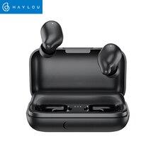 Haylou T15 2200mAh dokunmatik kontrol kablosuz kulaklıklar HD Stereo gürültü izolasyon Bluetooth kulaklık pil seviyesi göstergesi ile