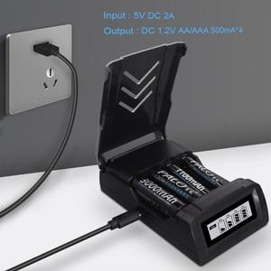 Image 5 - PALO 4 sloty wyświetlacz LCD inteligentna inteligentna ładowarka AA do akumulatorów Ni MH AA / AAA 1.2V ni cd