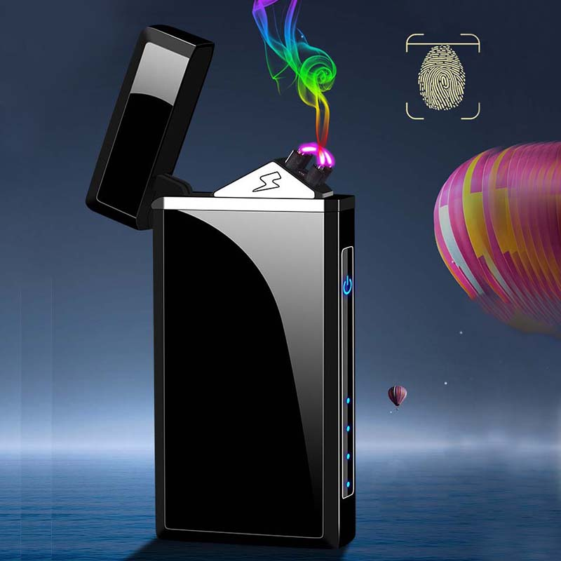 2020 Double Arc Electronic Lighter USB Rechargeable Cigarette Lighter Windproof Electric Plasma Arc Lighter For Cigar Men Gifts