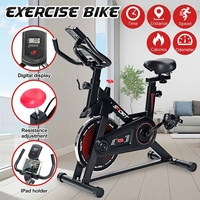 Exercise Bike Home Ultra-quiet Indoor Cycling Bike Stationary Bike Weight Loss Fitness Bike with LCD Monitor Exercise Bicycle